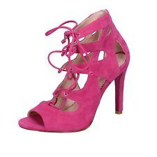 scarpe donna GEORGIA MAY JAGGER MINELLI 36 EU sandali fucsia camoscio BT589-36