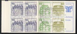 4 Markenheftchen, BRD, Bund, MH 24 a, 3x **, 1x mit Stempel Bonn [5]