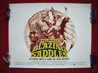 BLAZING SADDLES * 1974 ORIGINAL MOVIE POSTER 1/2sh. HALF SHEET MEL BROOKS COMEDY