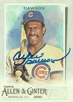 Andre Dawson Autographed 2020 Topps Allen & Ginter Chicago Cubs Card - HOF - COA