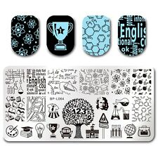 BORN PRETTY Nail Art Stamp Plate Manicure Template DIY School Time Lesson BPL-64