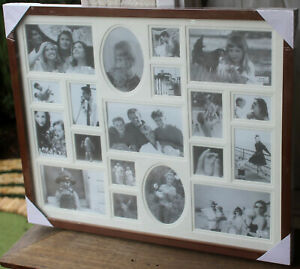 REDUCED    Rustic  Wood Multi  Photo Frame Wall Collage     BRAND NEW