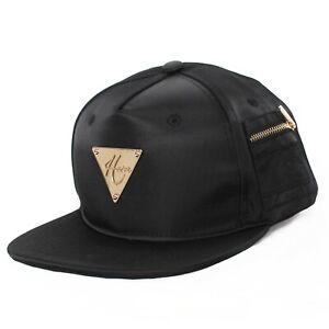 Hater Bomber Snapback Hat Cap Orange Lining Black Ma-1 NEW