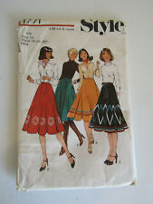 "Vintage ""Style"" Sewing Pattern 1771 Flared Applique Skirts sz 16 1970s Era"