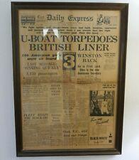 More details for original world war 2 framed ' daily express ' newspaper sept 4th 1939