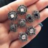 Fashion Women's Rhinestone Crystal Pearl Moon Star Jewelry Ear Stud Earrings