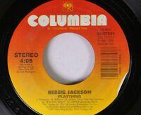 Soul 45 Rebbie Jackson - Plaything / Plaything (Instrumental) On Columbia