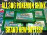 POKEMON EMERALD AUTHENTIC All 386 SHINY GAME UNLOCKED & NEW BATTERY!