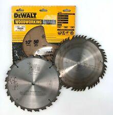"Dewalt 50 + Makita Carbide: 10"" 5/8"" 16mm Rip Cut Saw Blades Lot - DW7640 DW7150"