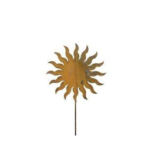 Metall Stecker Sonne, ca. 60 cm Gartenstecker Bodenstecker Deko