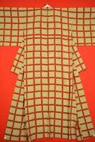 Vintage Japanese Silk Antique BORO KIMONO Kusakizome KOMON Dyed/AJ16/940