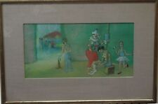 """Signed Pastel Painting Titled """"The Circus Family"""" 14""""x21"""""""