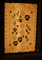Pricking * Stencil * Emboss * Flower * Pansy * Floral * Embroider * Pierce
