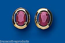 ruby Earrings ruby Studs Natural ruby Oval Stud Yellow Gold ruby earrings