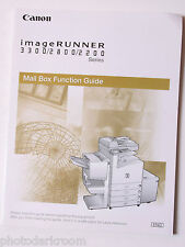 Canon Image Runner 3300 2800 2200 mail box Funct Guide Book Only English USED B3