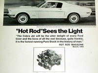 1968 FORD MUSTANG COBRA JET 428 V8 ORIGINAL AD *427/GT/steering wheel/decal/hood