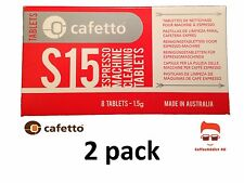 2 Pack Cafetto S15 For Breville, Saeco Delonghi Jura  Espresso Coffee 8 Tablets