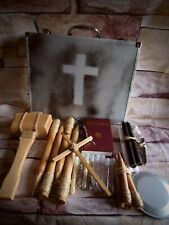 Unique Handmade 32pc Vampire Killing Hunting Kit Stake Holy Water Briefcase (1)