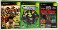 Bundle Lot of 3 Retro Arcade Games Xbox: Midway Namco Steet Fighter Complete F14