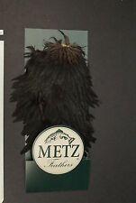 Metz #1 Hen Natural Black Soft Hackle Saddle Fly Tying/Crafts Lot-286
