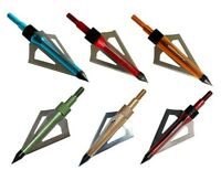 12pcs Broadheads 3 Blade Broad Arrow Heads Arrows Screw Tips Hunting 100 Grain