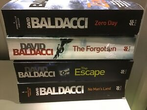"""Baldacci, David : """"John Pulller"""" series complete  set paperback x 4"""