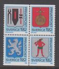 Sweden 1986 Coats of Arms mint unhinged block 4 stamps.