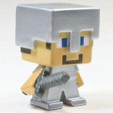 Minecraft Mini Figure Series 2 Stone Series Loose Steve with Iron Armor