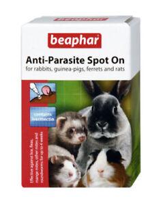 Beaphar Anti-Parasite Spot on Rabbit Guinea Pig Ferrets Wormer Lice Fleas