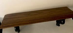 Vintage Syroco Homco USA Black/ Brown  Wall Decor Shelf