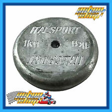 GO KART 1KG LEAD WEIGHT BALLAST WITH HOLE FOR M8 BOLT - BE SAFE AT WEIGH-IN'S