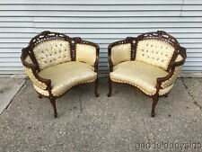 Wow! Beautiful Pair of Antique Carved French Style Chairs Chair