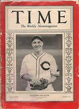 Time Magazine April 19, 1937 Cleveland's Bob Feller