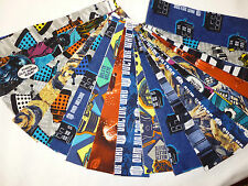 """DR WHO/DOCTOR WHO FABRIC JELLY ROLL 20 X 44"""" TARDIS/DARLEK/SPACE/CYBER MEN"""