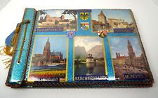 VINTAGE GERMANY Photo Album Scrapbook 16x11 Ornate Hand Crafted Lace Edges