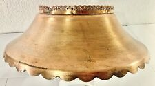 """ANTIQUE ORNATE COPER LAMP SHADE 5 1/2"""" Wide Opening, 13 1/2"""" Wide, 4.5"""" Tall!"""