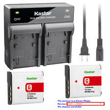 Kastar Battery AC Rapid Charger for Sony NP-BG1 Sony Cyber-shot DSC-H9 Camera