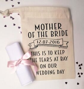 Mother of the Bride / Groom Wedding Handkerchief | Personalised | With Gift Bag