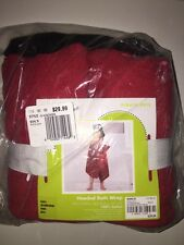 JUMPING BEANS Pirate Pete Hooded Bath Wrap BLACK/RED/WHITE Cotton NEW Tags