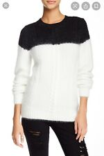 Nwt Band of Outsiders Drowning Cable angora sweater white/black 0 Xs $465