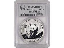 2012 China 1oz Silver Panda - PCGS FIRST STRIKE MS69, .999 Fine Silver