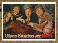 DIE OLSENBANDE SIEHT ROT Ansichtskarte AK Postkarte Kühlschrankmagnet DDR Tuborg