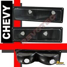 88-98 Chevy GMC C/K Silverado Tahoe Sierra Suburban Black Bumper Parking Lights