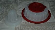 TUPPERWARE RUBY RED & SHEER SMALL GEL RING & TRAY