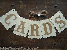 Bunting Banner Flags Garland CARDS Brown Cream Wedding Photo Birthday DIY C1