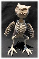 Halloween Creepy Horror Skeleton Owl Poseable Moveable Decor NEW 8in