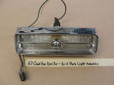 67 Cadillac Deville GRILL PARK TURN SIGNAL LIGHT LENS CHROME BEZEL TRIM HOUSING