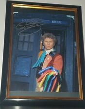 COLIN BAKER - HAND SIGNED WITH COA - DR WHO - AUTHENTIC FRAMED AUTOGRAPHED PHOTO