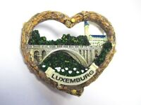 Luxemburg Luxembourg Herz Heart 3D Poly Fridge Magnet Souvenir France