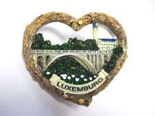 Luxemburg Luxembourg Herz Heart 3D Poly Fridge Magnet Souvenir France
